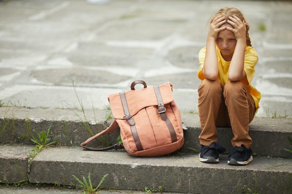 Sad Little Schoolgirl